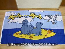 Fahnen Flagge Moin Moin Robben Möwe - 90 x 150 cm