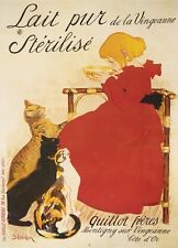 VINTAGE CAT PRINT - Lait Sterilise by Theophile-Alexandre Steinlen Poster 14x11