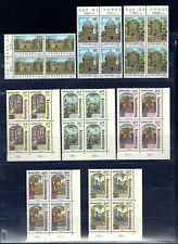 NICE LOT LUXEMBOURG 8 BLOCKS OF FOUR CARITAS 1986 LUXEMBOURG FORTRESS