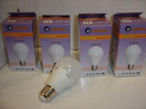 KIT 4pz Lampadina Goccia Led E27 8W consumo resa 60W luce calda Lampitalia