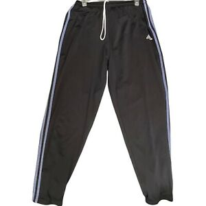VTG Adidas Womens Track Warm Up Striped LAVENDER  Pants Stretch ZIP Training XL