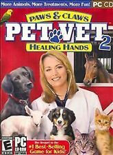 ����New PAWS & CLAWS PET VET 2 HEALING HANDS for PC CD Sim Game Horse Dog Cat ��
