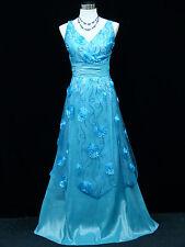 Cherlone Blue Ballgown Bridesmaid Formal Wedding/Evening Full Length Dress 16