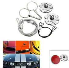 CNC Universal Car Racing Sport Bonnet Hood Pin Lock Latch Appearance Kit Silver