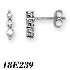 Pendientes de joyería con diamantes en oro blanco SI1