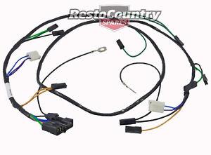 Holden TWIN Headlight +Horn Wiring Loom / Harness HZ. H1 Hi Low. New wire light