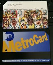 RARE 1995 NYC Subway OLD metro card JAMES RIZZI Expired Metrocard-- plus holder