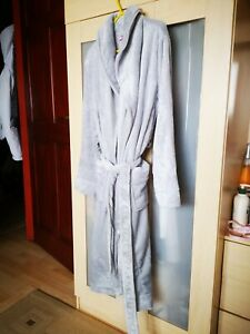 V by Very super soft long sleeve dressing gown - grey 10-12 BNWT