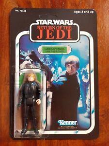 Vintage Star Wars Luke Skywalker Jedi Knight Outfit Recard 1984 77 Back
