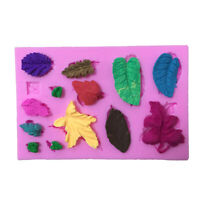 3D Leaves Vein Silicone Fondant Moulds Cake Decor Baking Icing Molds Sugarc F1L0
