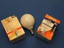 ORIGINAL OSRAM / RADIUM LAMPE GLOBE E14 40W MINIGLOBE G60 OPALE BLANCHE Ø 60mm