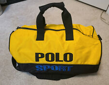 90s Ralph Lauren POLO SPORT Spell Out Logo Duffle Bag Vintage Embroidered 3M