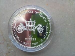"""Seychelles: 25 Rupees - Silver Commemorative Coin """"State Carriage"""""""