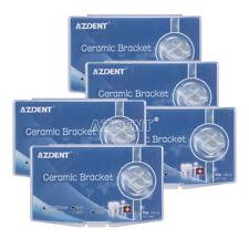 5 Packs Dental Orthodontic Ceramic Brackets Roth022 Hooks 345 Marked Azdent