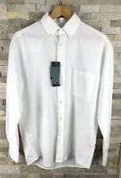 New Hugo Boss Orange Mens Size L Long Sleeve White Shirt Relaxed Fit RRP £89