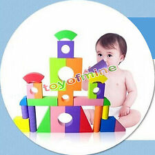 50pcs Colorful EVA Foam Building Blocks Bricks Set Kids Children Soft Toy Gift