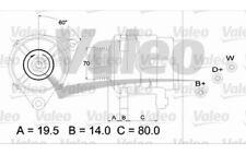 VALEO Alternador 70A Para FORD ORION 437391