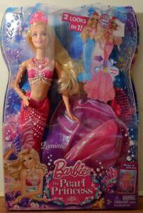 Barbie The Pearl Princess Mermaid Doll Lumina Pink Streak Hair 2013 Damaged Box