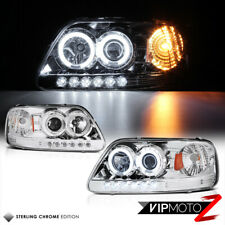 1997-2003 Ford F150 Lobo Euro Chrome CCFL Angel Eye LED DRL Headlights Headlamps
