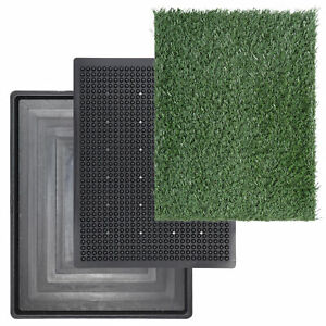Potty Pad with Artificial Grass Home Bathroom Dogs Training Toilet Dog Puppy Pet