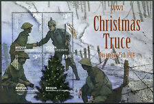 Bequia Gren St Vincent 2014 MNH WWI WW1 Christmas Truce 4v M/S Military Stamps