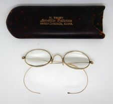Antique Gold Wire Rim Spectacles / Glasses with Case