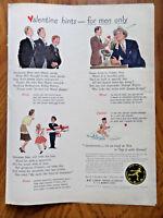 1942 FTD Florist Ad  FTD's  Valentine Hints for Men Only 1942 Palmolive Soap Ad