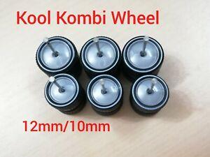 1/64 VW Kombi Wheels 3 SETS HOT WHEELS RUBBER TIRES WHEELS MOON DESIGN