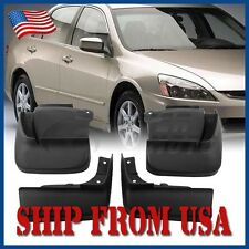 US 4Pcs Black Mud Guard Splash Flap Tyre Fender Cover Fit Honda Accord 03-07 FM