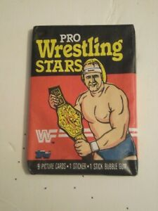1985 Topps WWF Pro Wrestling Stars Unopened Wax Pack lot A