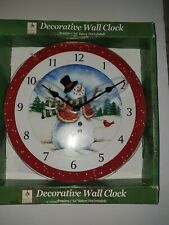 CHRISTMAS HOLIDAY SEASON WALL CLOCK ROOM , HOME ROOM , DECOR- NEW IN ORIG. BOX