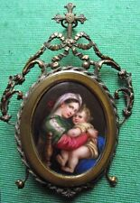 19C Old Master Raphael's Madonna & Child Icon Plaque : Give Fine Art