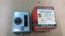 HEINEMANN ENCLOSED AUXILIARY CIRCUIT BREAKER / SINGLE POLE WITH 15A 3 WIRE RECEP