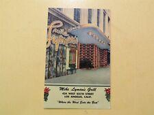 Mike Lyman's Grill Los Angeles California vintage linen postcard