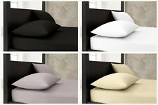 Plain PolyCotton Fitted Sheet, Flat Sheet - Bed Sheets & Pillow Cases All Sizes