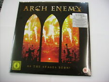 ARCH ENEMY - AS THE STAGES BURN! - 2LP VINYL + DVD - NEW SEALED 2017