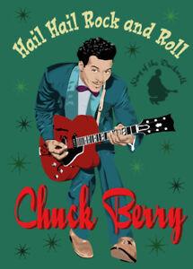 Chuck Berry - Fifties style poster - (signed) Art Print - Jarod Art