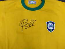 CBD BRAZIL PELE AUTOGRAPHED YELLOW ATHLETA SHORT SLEEVE JERSEY PSA/DNA 161440