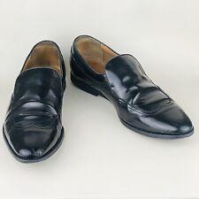 GUCCI Men's Black Leather Slip-on Wing-tip Loafer Shoe UK 8.5 | EU 42.5 | US 9.5