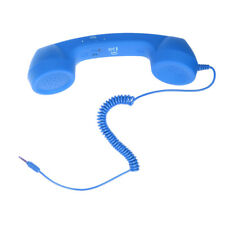Cell Phone Retro Handset 3.5mm Mic POP for iPhone Samsung HUAWEI Blue