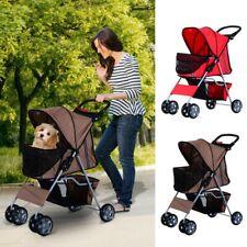 Travel Standard Pet Dog Cat Stroller Pram Buggy Pushchair Jogger Basket Carrier