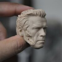 1:6 Scale Unpainted  Arnold Schwarzenegger Head Sculpt PVC Head Model Toy