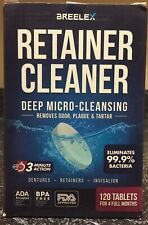 Breelex - Retainer Cleaner - 120 Tablets - Deep Micro-Cleansing - EXP03/24