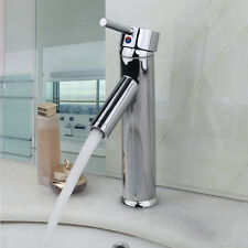 Bathroom Basin Mixer Faucet Solid Brass Sink Bowl Tap in Chrome Waterfall Chrome