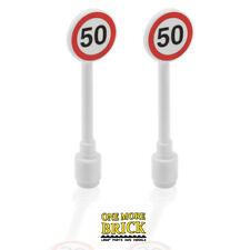 Lego Speed Limit Road Signs x2 - Traffic Speed CITY 50 sign