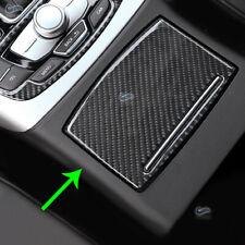 Consola De Fibra De Carbono Real Cubierta Del Panel Soporte para vaso de agua Trim para Audi A6 C7 12-16
