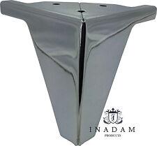 4 x Gambe in Metallo Cromato Mobili Piedi per divani sedie sgabelli Armadi H-10cm
