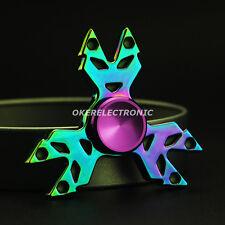 EDC Rainbow Little Child Hand Spinner Metal Fidget Toys Finger Gyro Austim S002