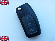 3 BUTTON FLIP REMOTE KEY FOB CASE & BLADE For FORD MONDEO FOCUS CMAX GALAXY NEW
