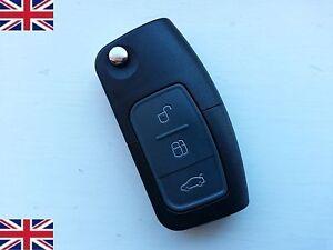 3 Button For Ford Fiesta Focus Mondeo CMAX Galaxy Flip Key Remote Fob Case Blade
